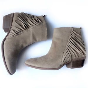 Brown Suede Booties, size 6.5 - Great Condition!